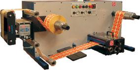 Rebobinadora - cortadora com bancada Daco DT250 para rebobinagem eficiente de etiquetas