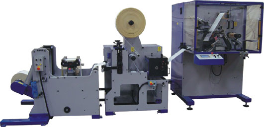Daco TD - turret rewinder with rotary die cutting module and high capacity unwind for the automated production of blank labels