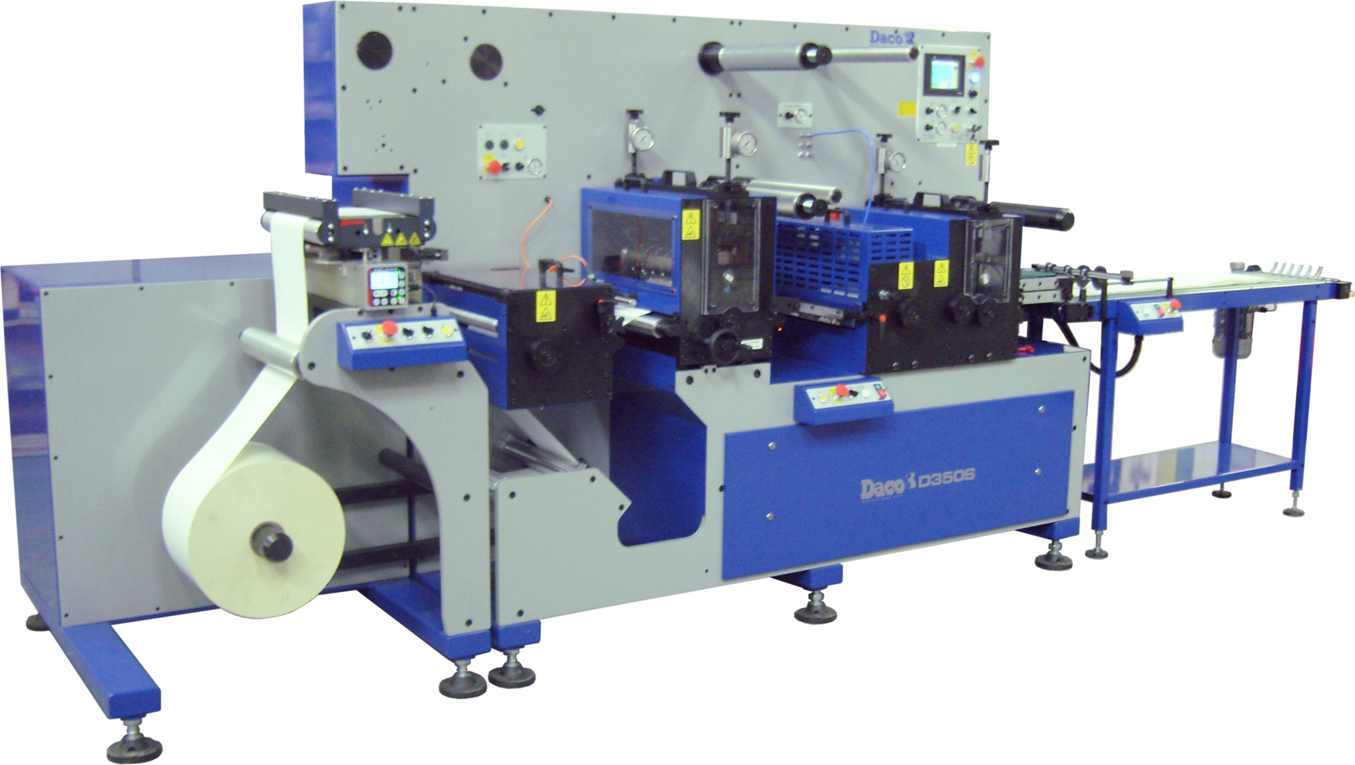 Daco D350S A3/ A4 sheeting line for the prodcution of laser labels