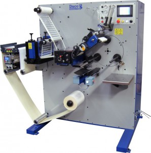 Daco PLD250 Rotary Die Cutter with Semi-Automatic Turret Rewinding