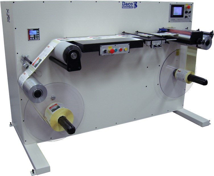 Daco DTR-BK Booklet label rewinder with slitting