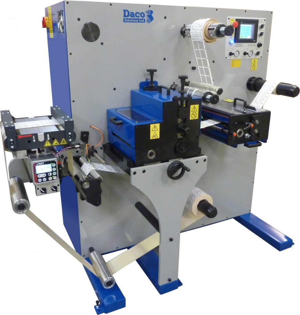 Daco D250R - 1 rotary die station with die cut to register