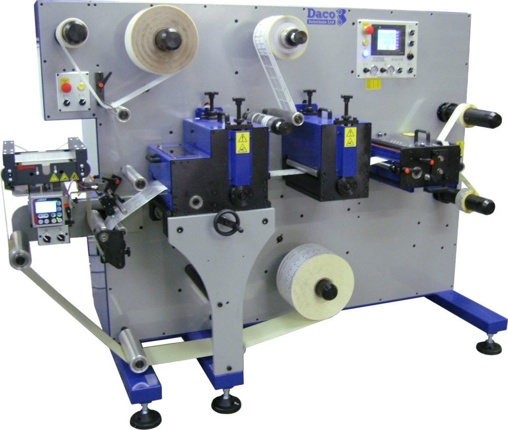 Daco D250R - 2 rotary die stations, laminating and die cut to register