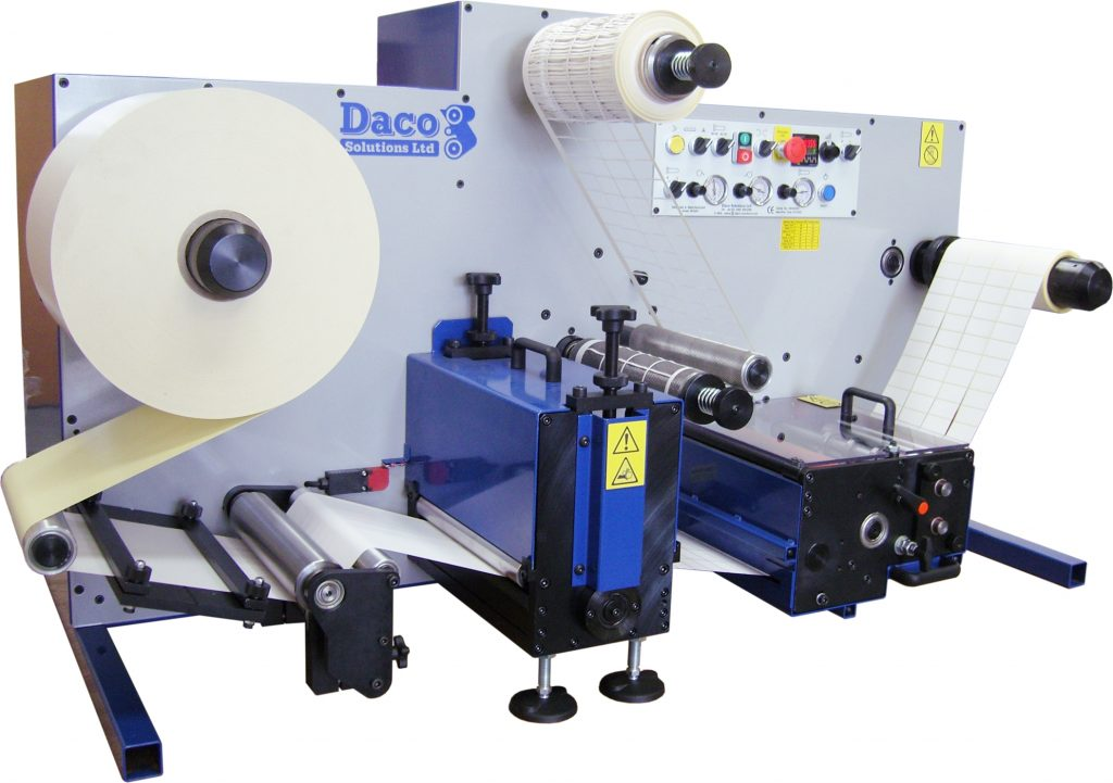 Daco DTD250 Bench Top Rotary Die Cutter for plain label production