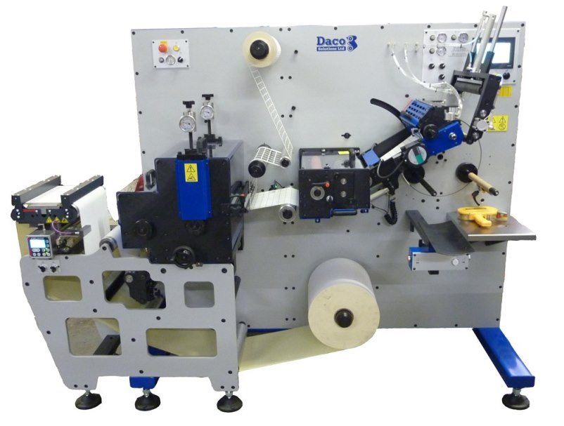 Daco PLD350 with die cut to register rotary die station